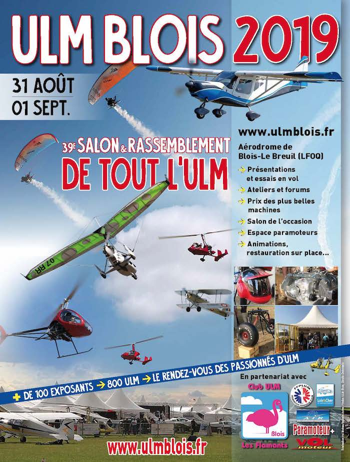 Affiche du salon ULM Blois 2019 700