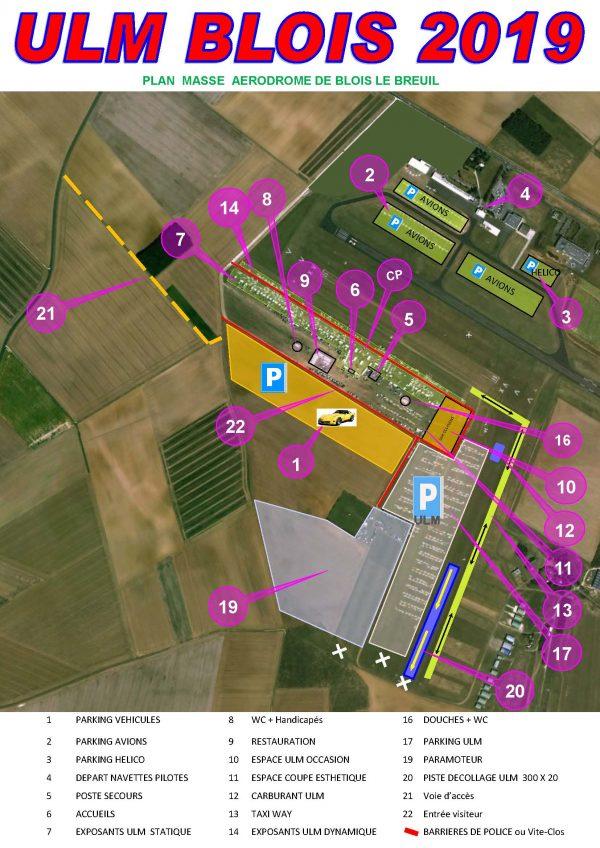 Plan de masse Blois ULM 2019